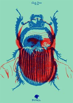 beatles blue & red, I could achieve this by using Screen print and Layering the colours.