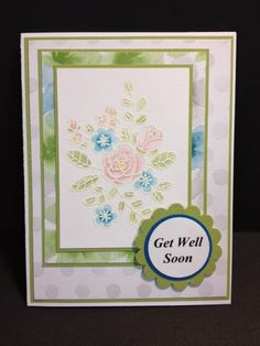 A So Very Grateful Get Well Card Stampin' Up! Rubber Stamping Handmade Cards Blender Pen