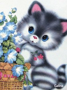 ca bouge - Page 49 Cat Template, Kitsch Art, Kitten Drawing, Kitten Cartoon, Kitten Images, Cute Cartoon Images, Cute Cat Wallpaper, Cute Animal Drawings, Cute Illustration