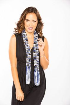 Loops & Threads® Glitz Knitz™ Miami & Loops & Threads® Glitz Knitz™ Chicago Striped Accessory Scarf (Knit)