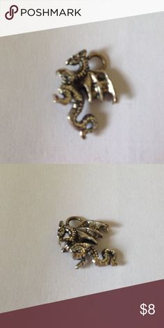 Dragon Pendant Beautiful Silver Dragon put on a bracelet or necklace. Silver Jewelry Necklaces