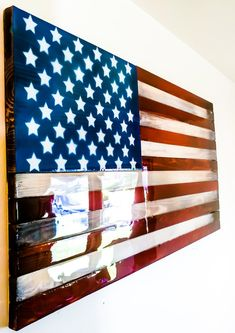 American Flag- Wall Art – Haircut Trends For Men and Womens – TrendPin American Flag Wall Art, Wooden American Flag, Flag Painting, Painting On Wood, Wall Art Designs, Wall Design, Wood Flag, Flag Signs, Cool Art Projects