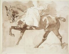 "John Singer Sargent ""Sketch of a Lady on Horseback, Sidesaddle."" Museum of Fine Arts, Boston."