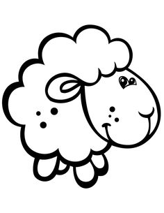Cute Baby Sheep Coloring Book PagesFree