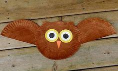 paper plate owl by Skatelady