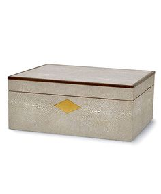 Shagreen / Walnut Box - Taupe
