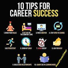 10 tips for career success / infographic - 10 tips for career success / infographic - Study Motivation Quotes, Business Motivation, Business Quotes, Business Ideas, Business Money, Business Opportunities, Personal Development Skills, Self Development, Inspiration Entrepreneur