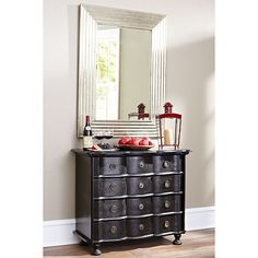 Wisteria - Furniture - Chests -  Black Bowfront Chest - $1,299.00