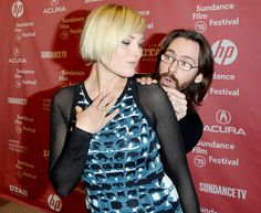 Malin Akerman played peekaboo with her I'll See You in My Dreams costar Martin Starr at the film's Sundance Film Festival premiere in Park City, Utah Jan. 27.