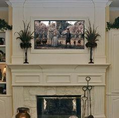 Creative Ideas Hiding Tv Living Room – Home Decor Ideas Tv Mount Over Fireplace, Fireplace Frame, Home Fireplace, Fireplace Design, Fireplaces, Fireplace Ideas, Mantle Ideas, Living Room Redo, Living Room Designs