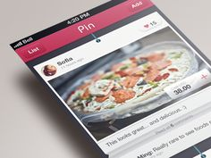 Dribbble - ui concept of Pin by