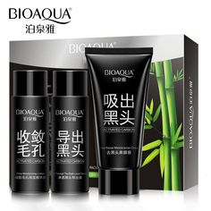 BIOAQUA Brand Face Skin Care Remover Black Head Acne Treatment Mask Set Suction Facial Blackhead Deep Cleansing Whitening Mask