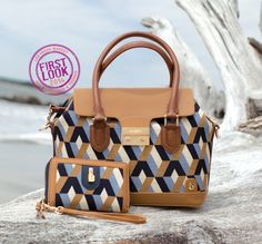Chevron meets color blocking at #LVMkt -New patterns from @spartina449 riff on apparel-inspired motifs.