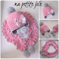 """Одежда для девочек, ручной работы. Ярмарка Мастеров - ручная работа шапочка и шарфик для девочки """"серебро"""". Handmade."""