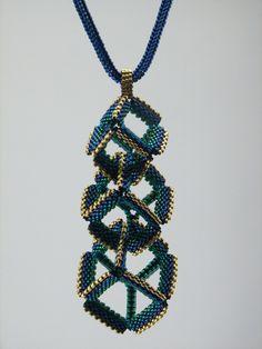 "MIYUKI Co., Ltd. Presents: Judy Walker's ""Entangled Cubes Necklace"""