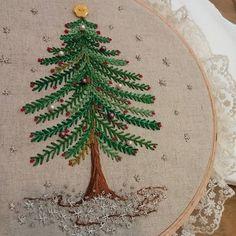 #Embroidery#stitch#needlework#X-mas #프랑스자수#일산프랑스자수#자수#christmas tree ~