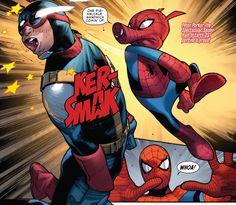 Spider-Ham delivers a punch in Amazing Spider-Man #9 (Spider-Verse Part 1)