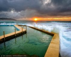 Sunrise at South Curl Curl Tidal Pool, Sydney, NSW, Australia