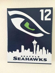 8x10 Seattle Seahawks 12th man Canvas!