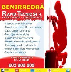 Cerrajeros Benirredra 603 932 932 Fontaneros