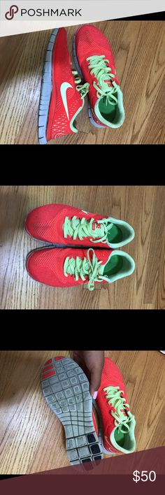 Nike free run shoes Nike shoes in very good condition! I have too many running shoes so I'm letting these ones go. They're very comfortable an super cute. No trades. Make me an offer :) Nike Shoes Athletic Shoes