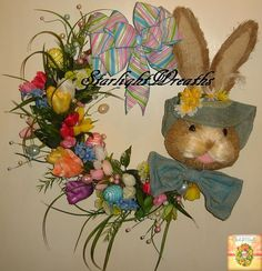Hey, I found this really awesome Etsy listing at https://www.etsy.com/listing/507701081/blue-bunny-grapevine-wreath-easter