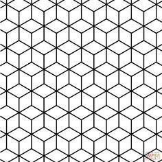 Geometric Tessellation with Rhombus Pattern coloring page Malvorlagen Geometrische Tessellation mit Rhombus Pattern ausmalbilder Shape Coloring Pages, Geometric Coloring Pages, Pattern Coloring Pages, Free Printable Coloring Pages, Geometric Patterns, Geometric Designs, Geometric Shapes, Geometric Animal, Design Patterns