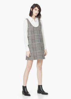 Vestido jacquard algodón - Vestidos de Mujer | MNG
