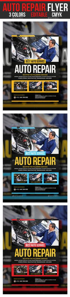 Auto Repair Flyer by GraphicForestNet Auto Repair FlyerSpecification CMYK Color Mode 300 DPI Resolution Size 210×297 FeaturesFree Fonts Editable Text Layers Smart Objec