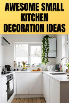 AWESOME SMALL KITCHEN DECORATION IDEAS Bright Kitchens, Pot Rack, Counter Space, Wall Storage, Kitchen Decor, Decoration, Awesome, Furniture, Ideas