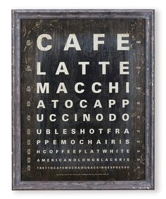 Take a look at this 'Café Latte' Wall Art by Foreside on #zulily today!