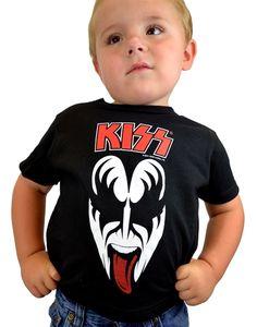 KISS Boys Alive Childrens T-Shirt Charcoal