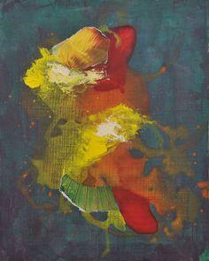 """Espiritualidad Contemporánea:                                                """"Martes Santo"""" collage sobre tela de José Vega poema de Moni Indiveri de Vega"""
