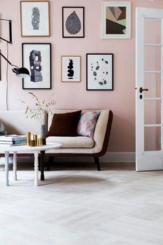 Farben Im Innendesign Altrosa Wandfarbe Im Wohnzimmer