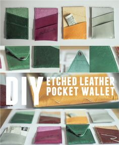 how to make an etched leather pocket wallet