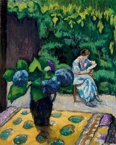 Reading, Jean-Laurent Buffet-Challié. French (1880 - 1943)