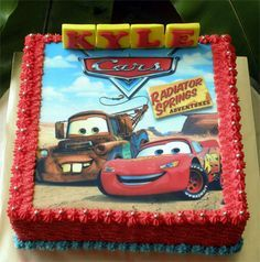Lightning McQueen Cake | With printed edible picture | Flickr