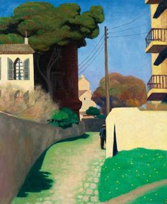 Félix Vallotton (Swiss, 1865-1925) - Light, Evening (Le phare, soir), 1915 oil on canvas