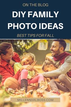 Save yourself some money but DIY'ing your family photos. Here are our best tips for Fall #fall #family