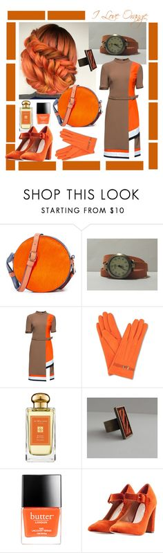 """""""I love orange"""" by jusal08 ❤ liked on Polyvore featuring Diane Von Furstenberg, Lattori, Jo Malone, Butter London and Nasty Gal"""