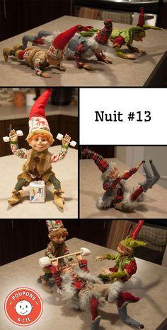 Trouvez dans ce billet 35 de nos meilleures idées de tours que votre lutin pourra jouer à Noël cette année! The Elf, Elf On The Shelf, Bonbon Halloween, Christmas Elf, Christmas Ornaments, Santa's Little Helper, Christmas Traditions, Elves, Jouer
