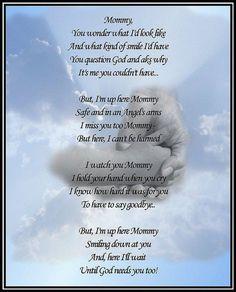 .i am not a mom of a angel baby but i am a proud aunt of one aunt katie love u.....love this poem