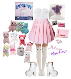 """""""Melanie Martinez Inspired"""" by the-ravenclaw-princes ❤ liked on Polyvore featuring Y.R.U., Hello Kitty, Ted Baker, Gund and Giorgio Armani"""