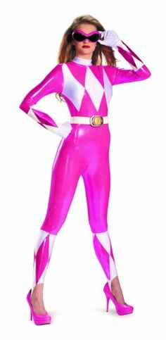 Disguise Sabans Mighty Morphin Power Rangers Pink Ranger Sassy Womens Adult Bodysuit Costume, Pink/White, Small/4-6 Disguise Costumes,http://www.amazon.com/dp/B00C5WGZ7S/ref=cm_sw_r_pi_dp_BS4ntb1J7Q3Q0AH5