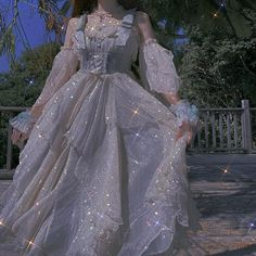 Sparkly Gown, Sparkly Outfits, Cute Outfits, Mode Lolita, Fancy Gowns, Fairytale Dress, Cosplay Outfits, Lolita Dress, Pretty Dresses