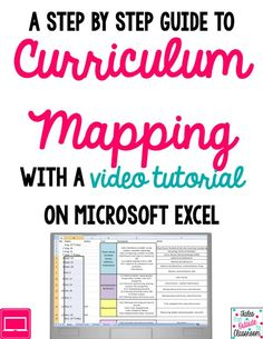Curriculum Mapping- a step by step guide with a video tutorial on using Excel to manage your map. Planning tool for teachers, homeschoolers and parents enriching either classroom or children's education. Organize your next lesson plan or project.