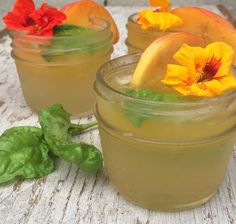 Ginger Peach Cocktail -- The combination of the peach juice, the lemon ...