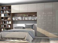 Resultado de imagem para built in wardrobes around bed
