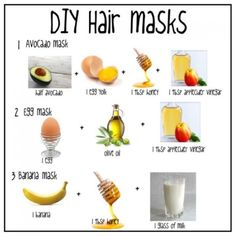 In this post I wanted to share 3 quick and easy DIY homemade hair masks that I personally love! In this post I wanted to share 3 quick and easy DIY homemade hair masks that I personally love! Hair Mask For Damaged Hair, Hair Mask For Growth, Natural Hair Mask, Natural Hair Tips, Natural Hair Styles, Deep Conditioner For Natural Hair, Diy Hair Mask For Dry Hair, Homemade Deep Conditioner, Good Hair Masks