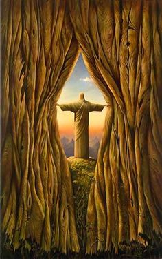 ABOVE THE WORLD<br />  43 x 27<br />  Edition: 325 by Vladimir Kush